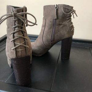 LACE UP ANKLE BOOTIES